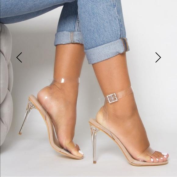 Simmi London Clear Perspex Heels